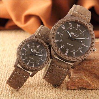 zegarek A PAIR OF LOVERS, zestaw 2 szt. drewniana koperta