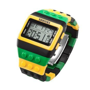 zegarek SHHORS LED YELLOW GREEN
