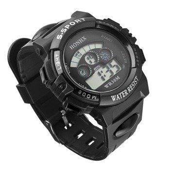 zegarek SPORT BLACK LED, silikonowy