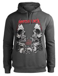 bluza METALLICA - BIRTH SCHOOL, z kapturem, szara