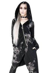 długa asymetryczna bluza damska z przetarciami DRAPED