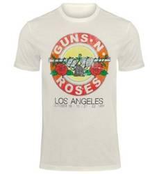 koszulka GUNS N' ROSES - VINTAGE ROSES vintage white