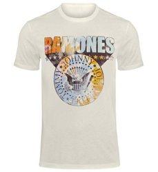 koszulka RAMONES - TIE DYE SHIELD vintage white