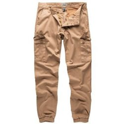 spodnie joggery BAD BOYS PANTS - BEIGE