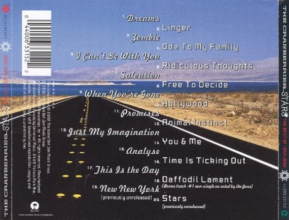 THE CRANBERRIES : STARS - THE BEST OF 1992-2002 (CD)