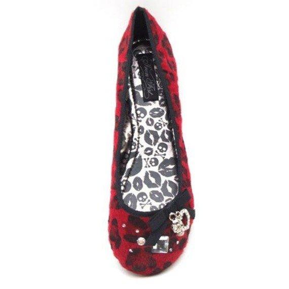 balerinki IRON FIST - LOOSE LIPS FLATH (RED)