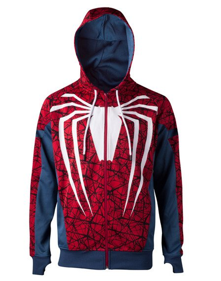 bluza SPIDERMAN -  PS4 GAME, rozpinana z kapturem