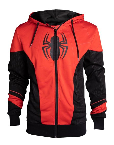 bluza SPIDERMAN - RED & BLACK OUTFIT, rozpinana z kapturem