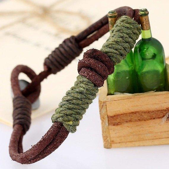 bransoletka BOHO BROWN GREEN