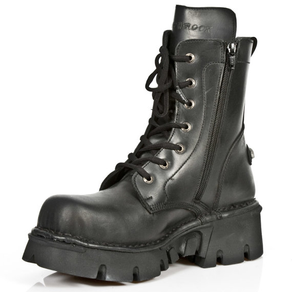 buty NEW ROCK - itali negro nomada negro Reactor negro toberas [M.563-S1]