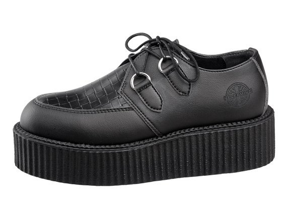buty creepers NEVERMIND - CZARNE synthetic