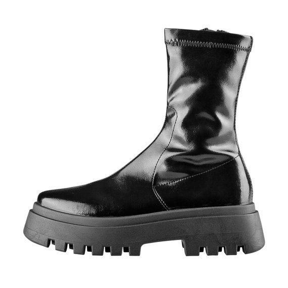 buty damskie ALTERCORE czarne (MORRIGAN BLACK PATENT)
