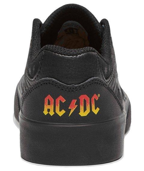 buty damskie DC - AC/DC, BACK IN BLACK - BLACK/BLACK/DK GREY