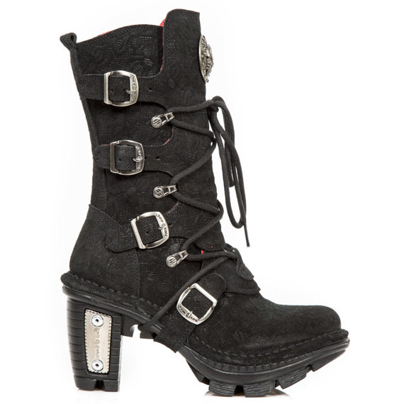 buty damskie NEW ROCK M.NEOTR005-C39 FLORAL ANTE NEGRO NEOTRAIL NEGRO