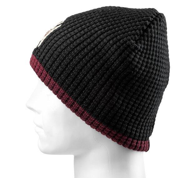 czapka zimowa WEST COAST CHOPPERS - KNITTED CROSS BLACK/BORDEAUX