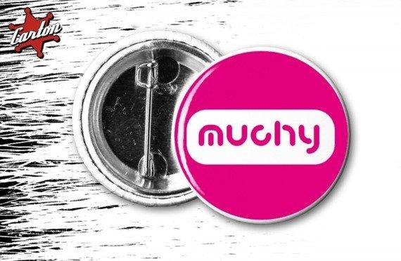 kapsel MUCHY - LOGO różowo-biały