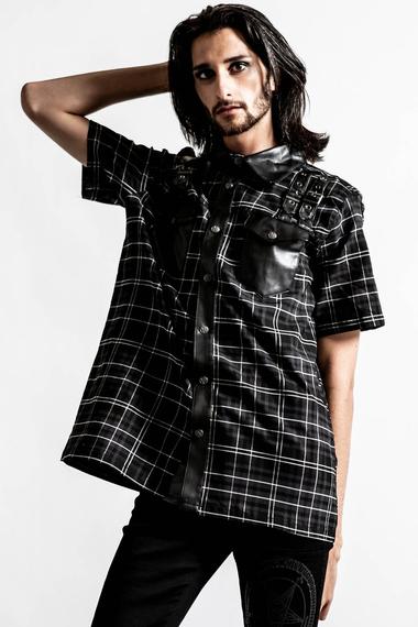 koszula męska KILLSTAR - DAZE (ASH TARTAN)