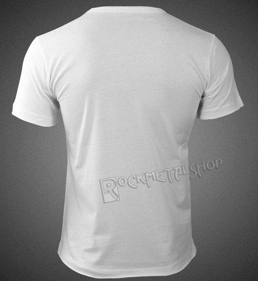 koszulka AC/DC - CLASSIC LOGO WHITE RED, cyrkonie