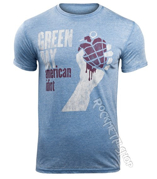 koszulka GREEN DAY - AMERICAN IDIOT MENS BURNOUT
