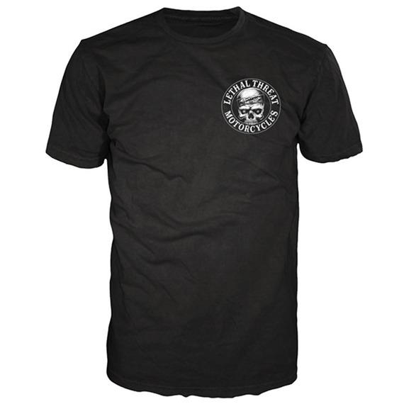 koszulka LETHAL THREAT - LOUD PIPES BANDANNA SKULL