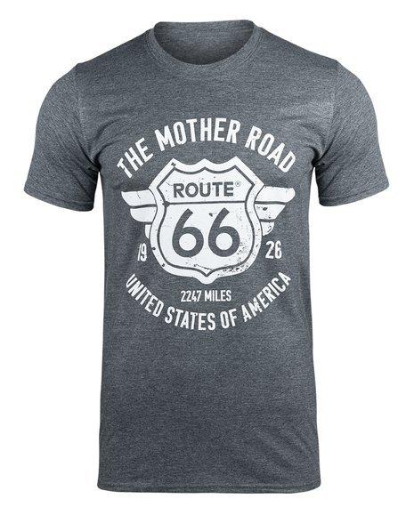 koszulka ROUTE 66 - THE MOTHER ROAD szara
