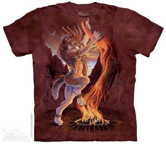 koszulka THE MOUNTAIN - SACRED FIRE, barwiona