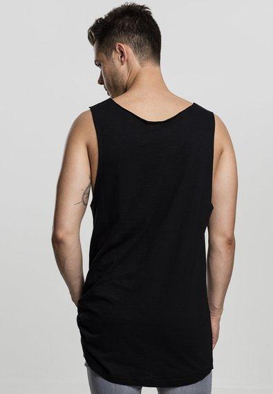 koszulka na ramiączka LONG SHAPED OPEN EDGE LOOSE TANK black
