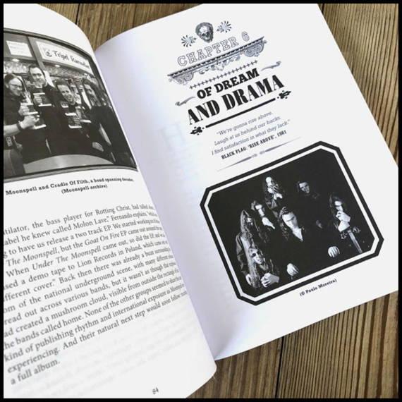 książka WOLVES WHO WERE MEN - THE HISTORY OF MOONSPELL - Ricardo S. Amorim, wersja anglojęzyczna