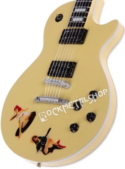 "miniaturka gitary SEX PISTOLS - STEVE JONES: LES PAUL CUSTOM ""PIN-UP"""