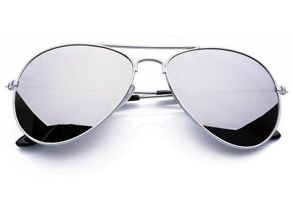 okulary przeciwsłoneczne AVIATOR SILVER LUSTRZANKI