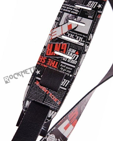 pas do gitary GUNS N'ROSES - LIES skórzany, 63mm