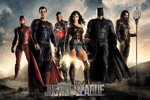 plakat JUSTICE LEAGUE - MOVIE CHARACTERS