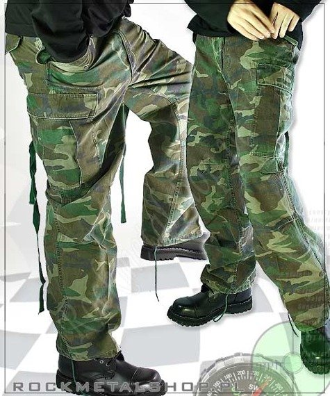 spodnie bojówki VINTAGE FATIGUE WOODLAND M65