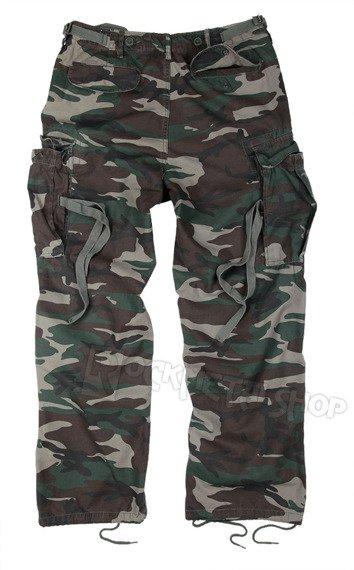 spodnie bojówki VINTAGE FATIGUES WOODLAND