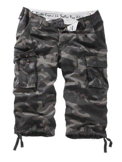 spodnie bojówki krótkie TROOPER LEGEND 3/4 - BLACK CAMO