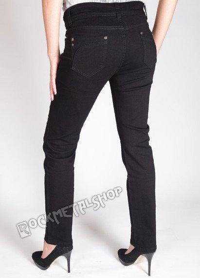 spodnie damskie rurki CZARNE