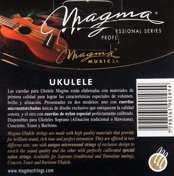 struny do ukulele koncertowego MAGMA CONCERT Clear Nylon