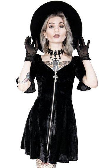 sukienka BLACK VELVET SWEETHEART