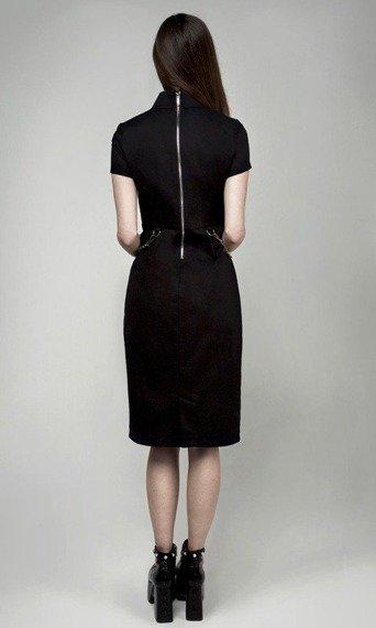 sukienka DISTURBIA - MERCURY BLACK