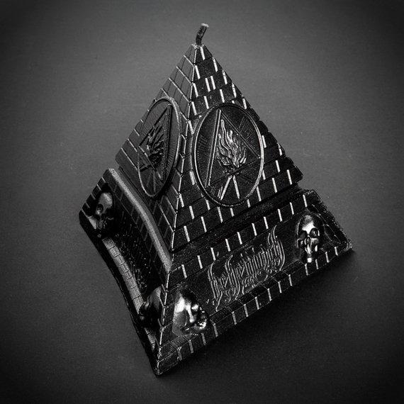 świeca BEHEMOTH - UNHOLY TRINITY PYRAMID - BLACK METALLIC