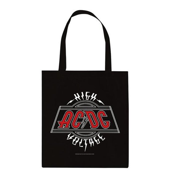 torba na ramię AC/DC - VOLTAGE bawełniana