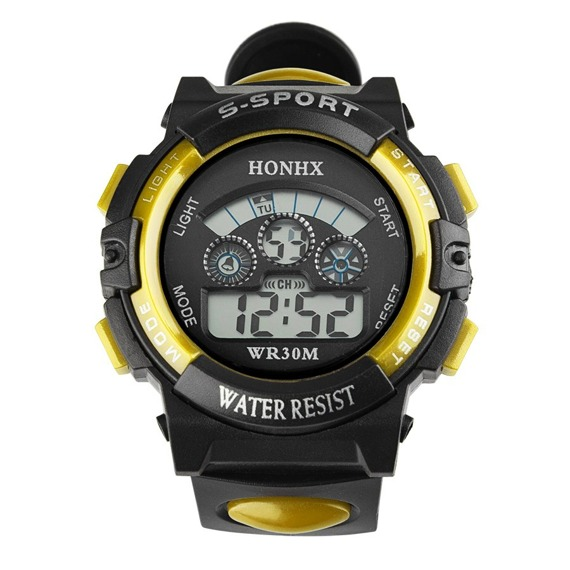zegarek SPORT YELLOW LED, silikonowy