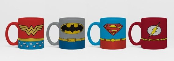 zestaw kubeczków do espresso DC COMICS - WONDER WOMAN - BATMAN - SUPERMAN - FLASH