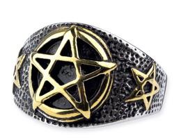 pierścień PENTAGRAM GOLD