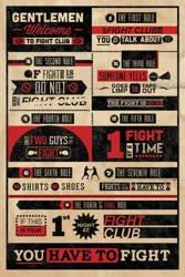 plakat FIGHT CLUB - INFOGRAPHIC